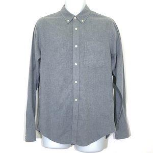 Club Monaco Slim Fit Grey Button Down Shirt